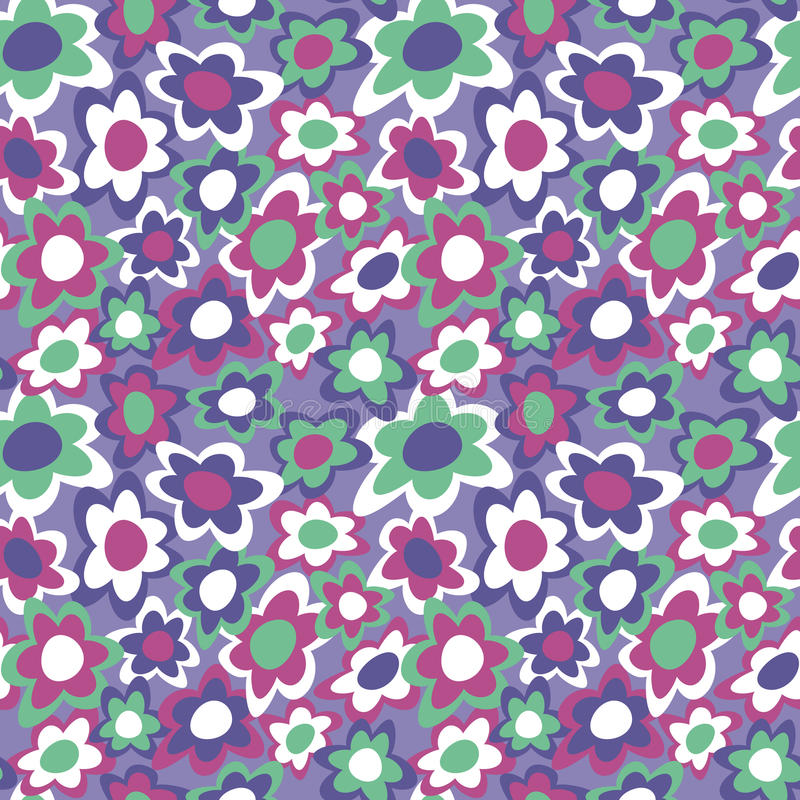 Flowers_Violet Funky illustrazione di stock