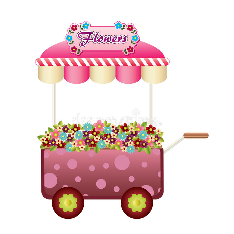 Download Flowers wagon stock vector. Image of wagon, colorful - 24790515