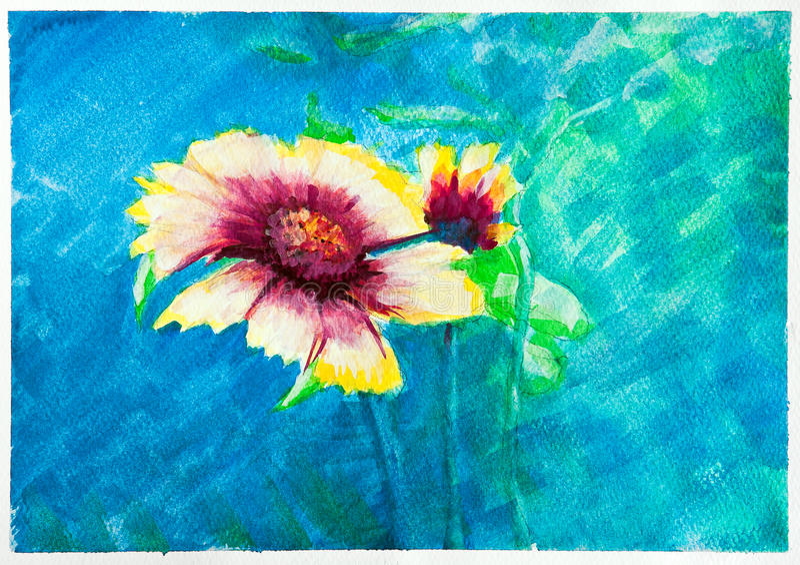 Download Flowers - watercolor stock illustration. Illustration of brush - 24170200