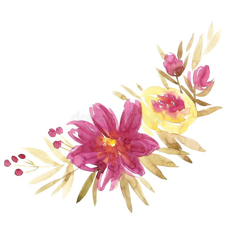 Easter Flowers Wedding: Watercolor S Day Wedding Birthday Easter Flowers