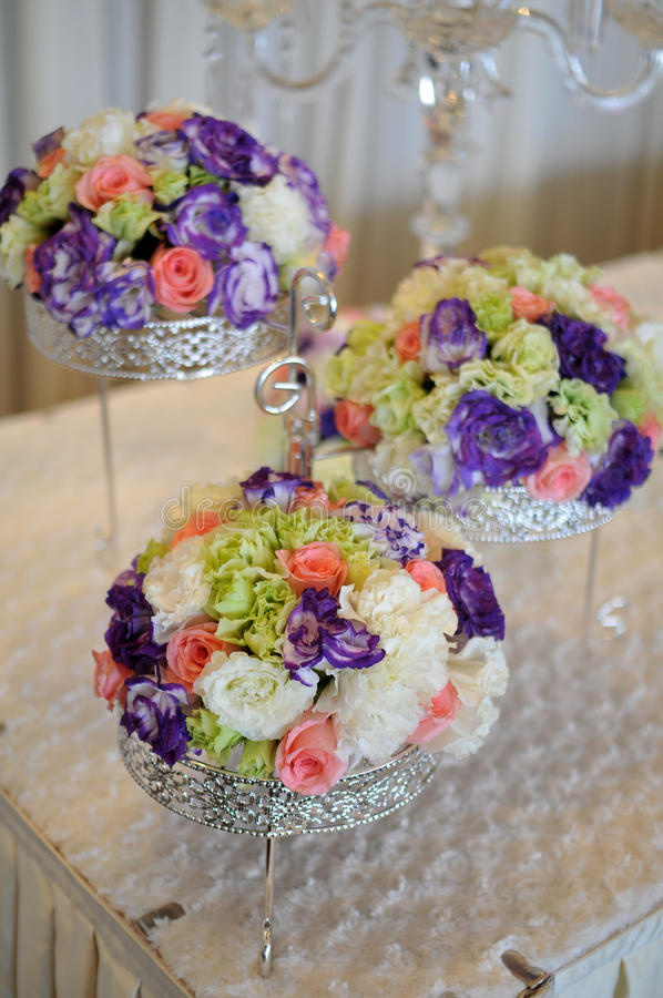 Download Flowers in wedding stock photo. Image of feathers, tables - 23925138