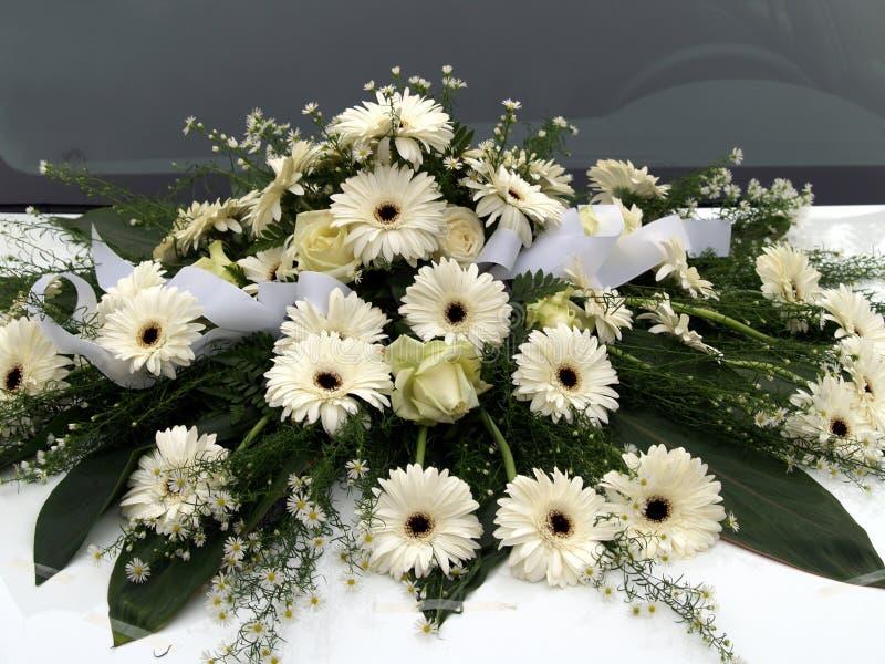Flowers wedding car 1 royalty free stock photos