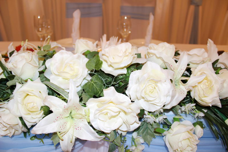 Flowers for the weeding royalty free stock photos
