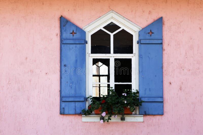 Flowers on the windowsill. Windows. Flowers on the windowsill royalty free stock images