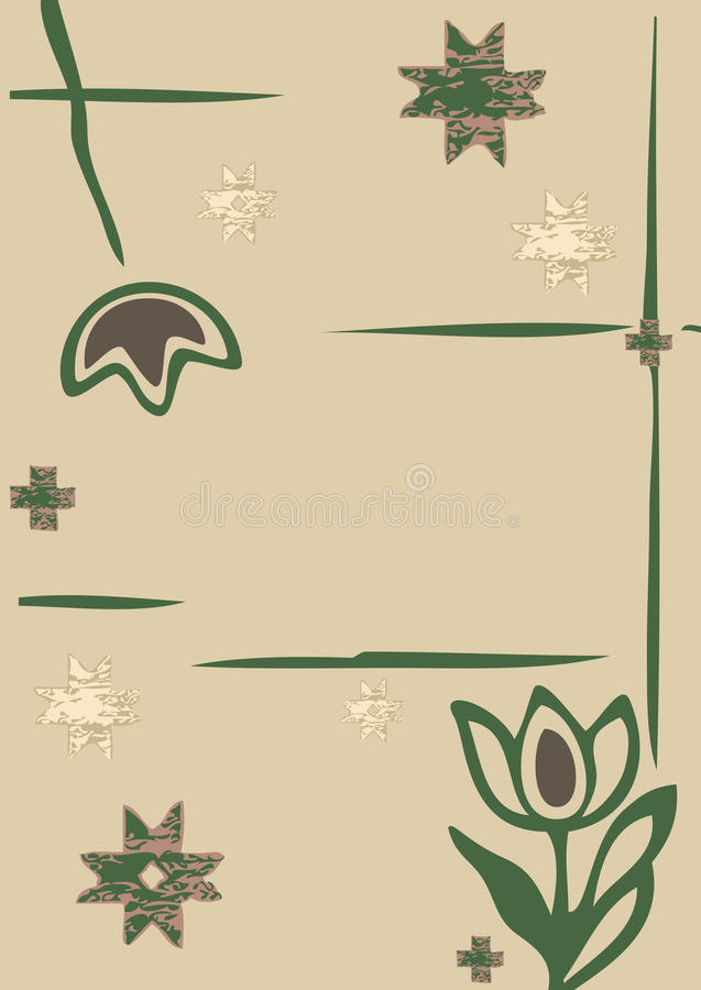 Flowers winter and snowflakes silhouette vector illustration