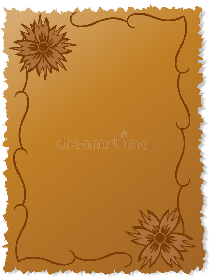 Download Flowers On Writing-book Sheet Stock Vector - Image: 12998890