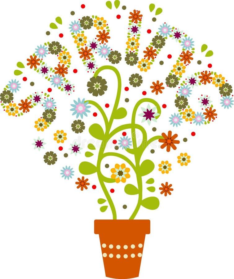 flowerspring ilustracja wektor