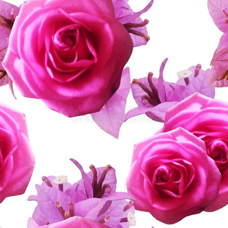 FlowerWatercolorPattern2 stock abbildung