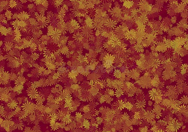 Flowery σχέδιο ταπετσαριών υποβάθρου σχεδίων ελεύθερη απεικόνιση δικαιώματος