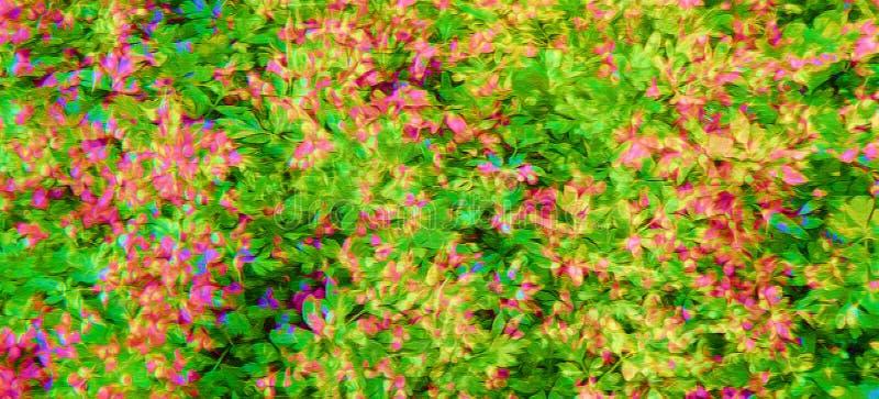 Flowery τυπωμένη ύλη στο χρώμα ελεύθερη απεικόνιση δικαιώματος
