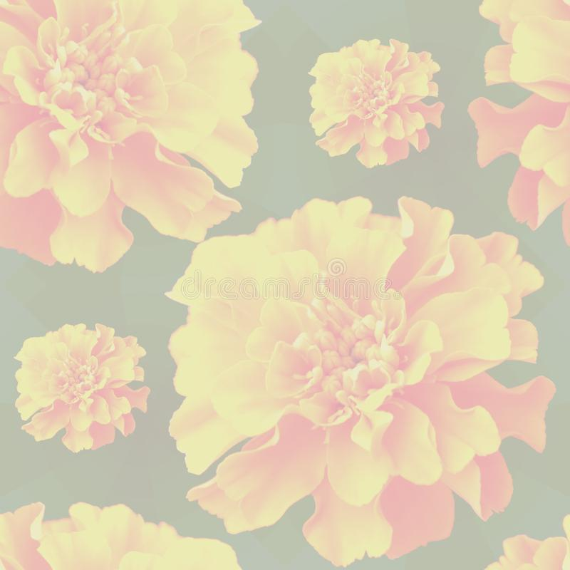 Flowery background yellow 2 stock photo