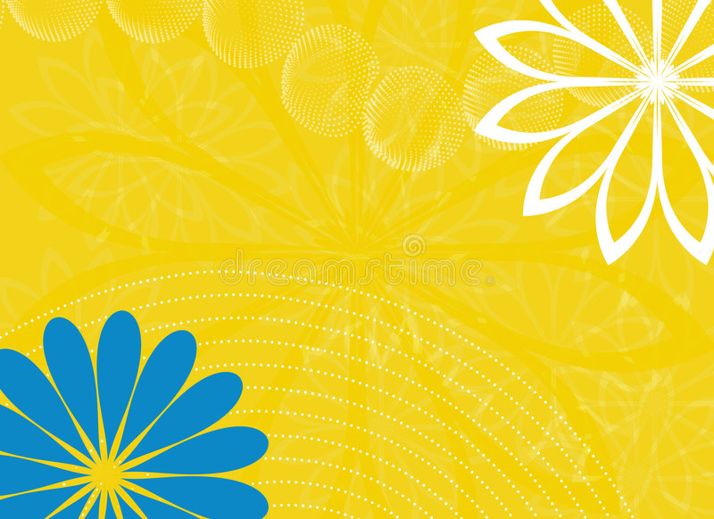 Download Abstract Yellow Background With Flowers Stock Illustration - Image: 6682353