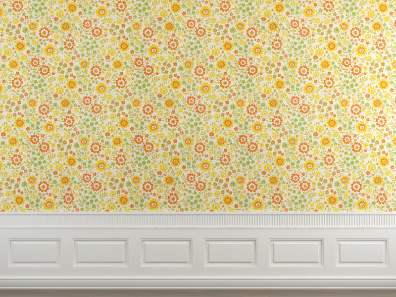 Download Flowery wallpaper wall stock illustration. Illustration of background - 12751876