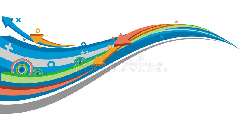 Download Flowing arrow stock vector. Image of wave, funky, shape - 9253553