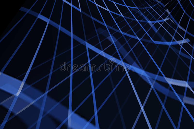 Flowing Blue Lines royalty free illustration