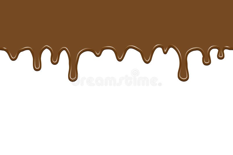 Flowing chocolate royalty free illustration