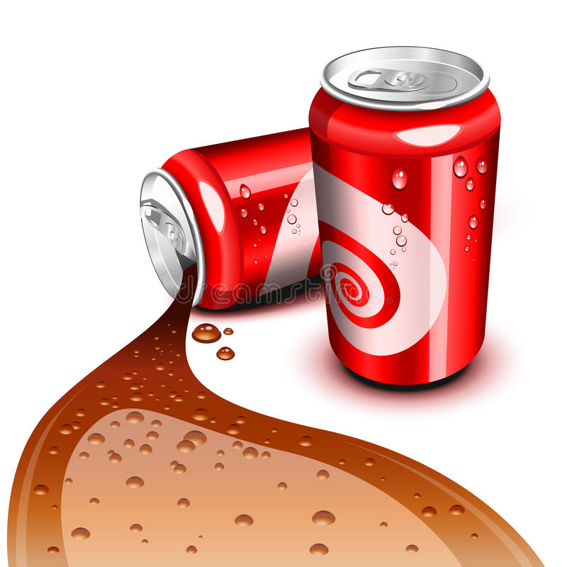Download Flowing Cola can stock vector. Illustration of brown - 20111896