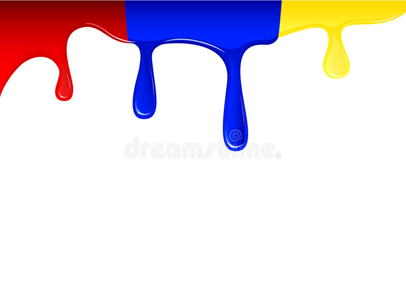 Flowing colored liquid