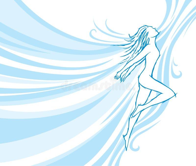 Download Flowing dancer stock vector. Illustration of dancer, girl - 8205497
