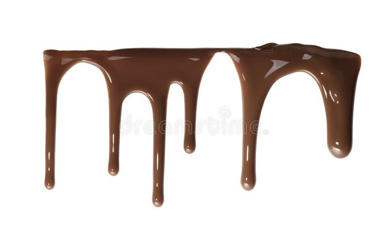 Flowing down liquid chocolate royalty free stock photo