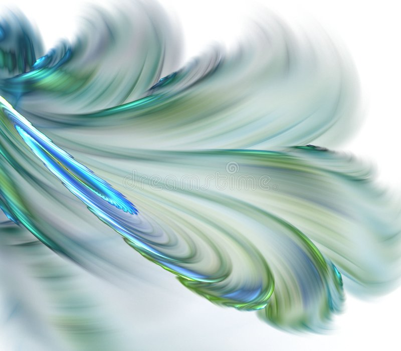 Flowing Feathery Abstract Royalty Free Stock Photography