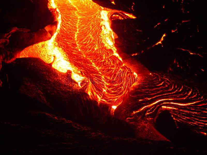 Flowing Lava stock photography