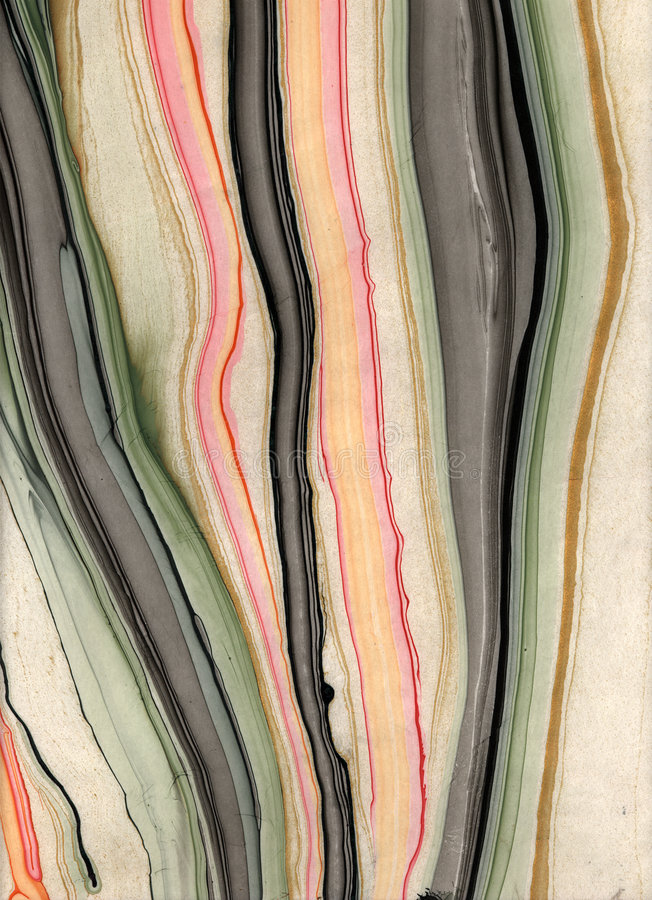 Flowing Marbled Paper stock photo
