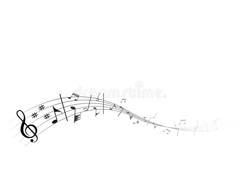 Download Flowing music stock vector. Image of isolated, vector - 7009006