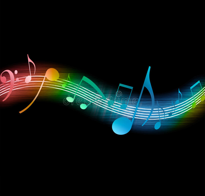 Flowing Music Notes stock illustration