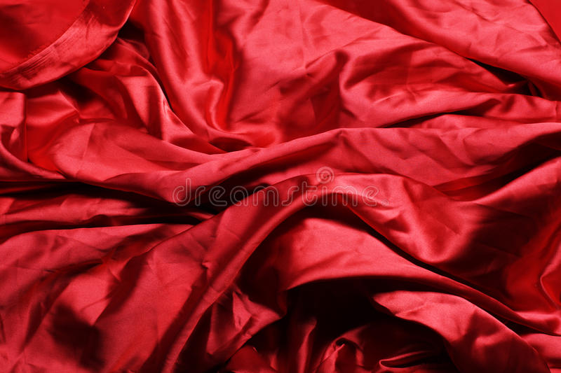 Flowing red fabric stock photos