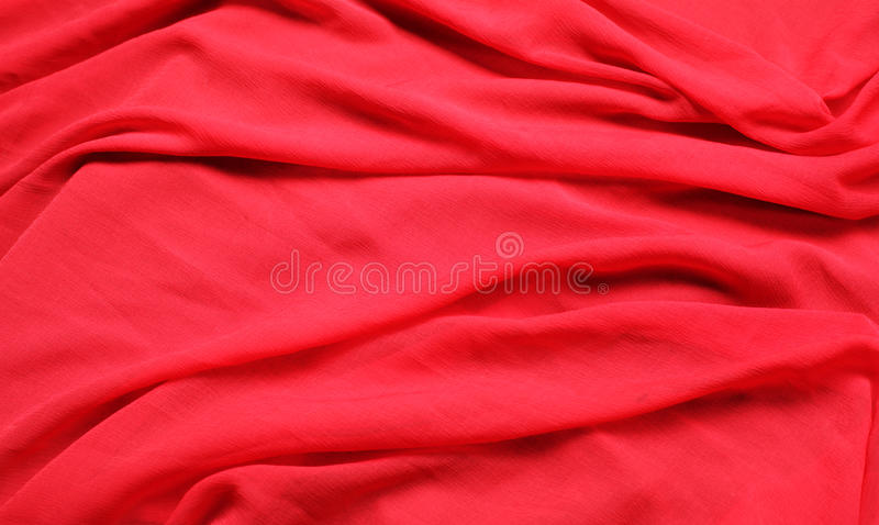 Flowing red fabric royalty free stock photography
