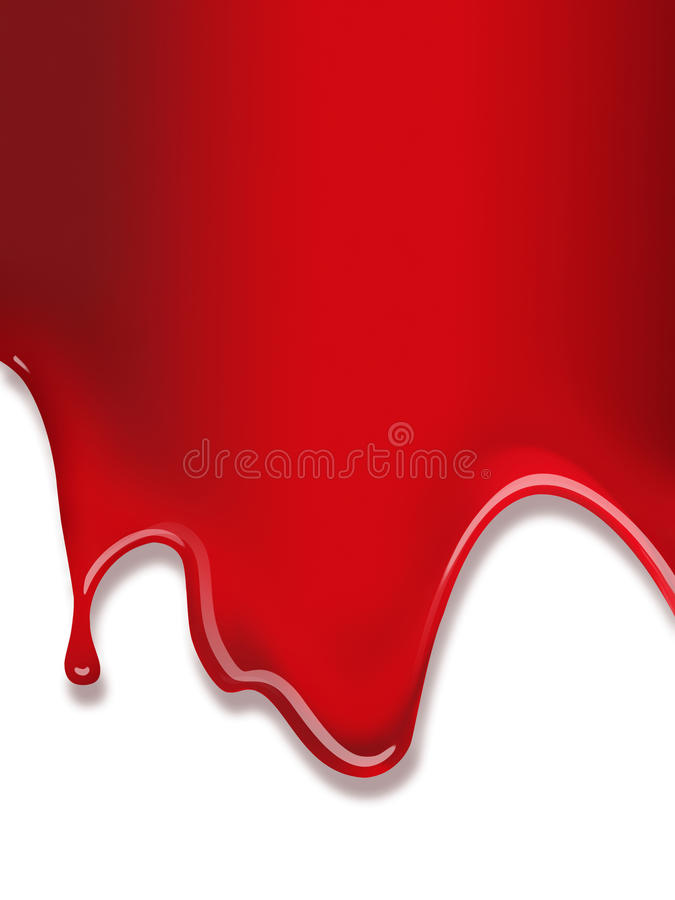 Flowing red paint vector illustration