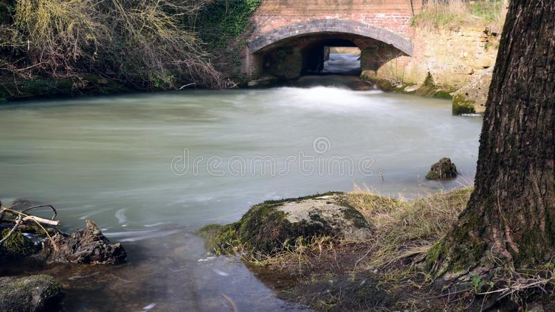 Flowing river Cherwell royalty free stock image