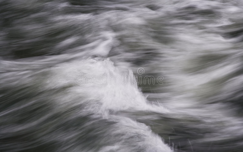 Flowing, Rushing Water Abstract royalty free stock photography