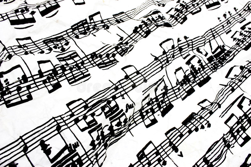 Flowing sheet music stock photo