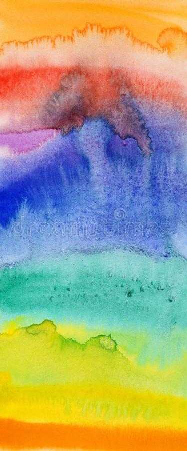 Flowing water colors on paper. Abstract pattern of the flowing water colors on paper stock illustration