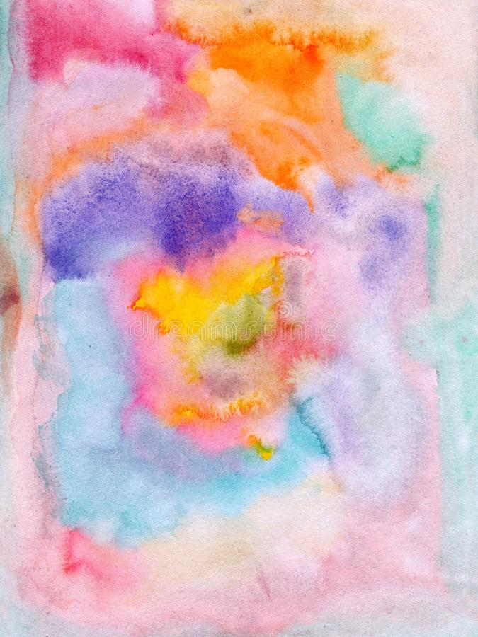 Flowing water colors on paper stock photo