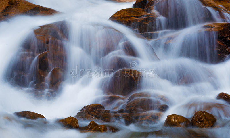 Flowing Water Fall. This is a beautiful picture of a flowing water fall shot in Rocky Mountain National Park stock images