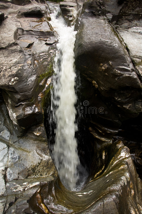 Flowing Water Through Rock Royalty Free Stock Photography