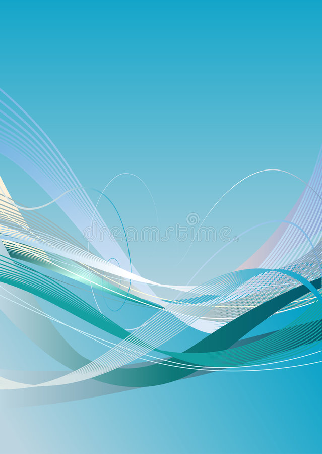Flowing waves vector illustration. Flowing waves background vector illustration royalty free illustration