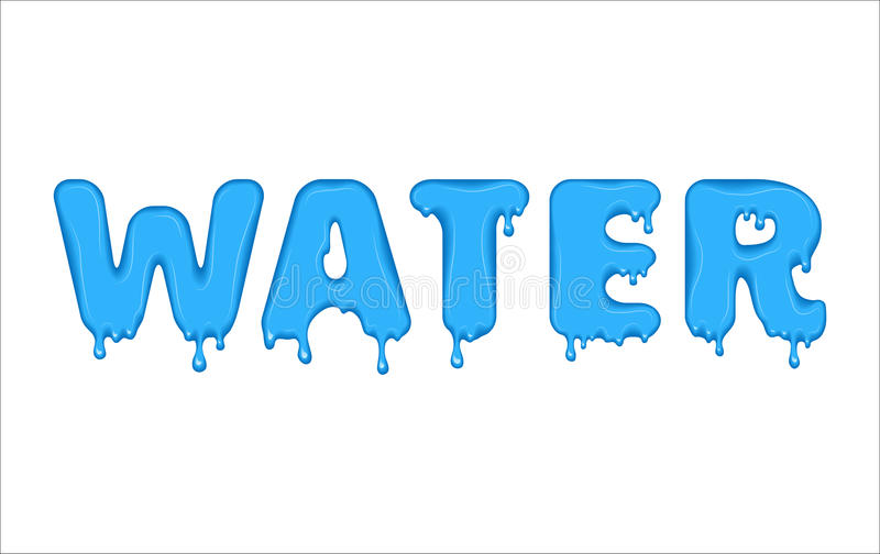 flowing word made of water stock vector illustration of