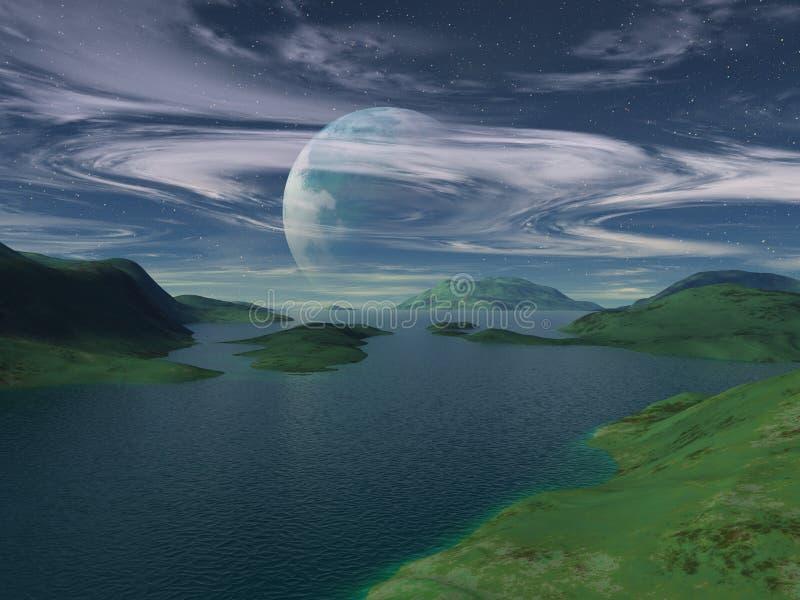 Flox - lago Freya x4 ilustración del vector
