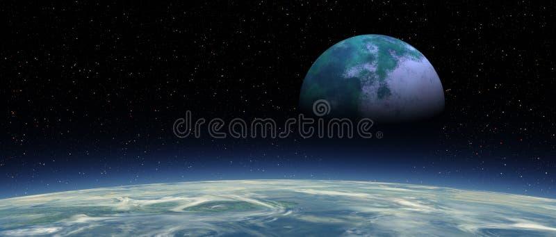 Flox - luna 02x4 aumentante Panavision immagini stock libere da diritti