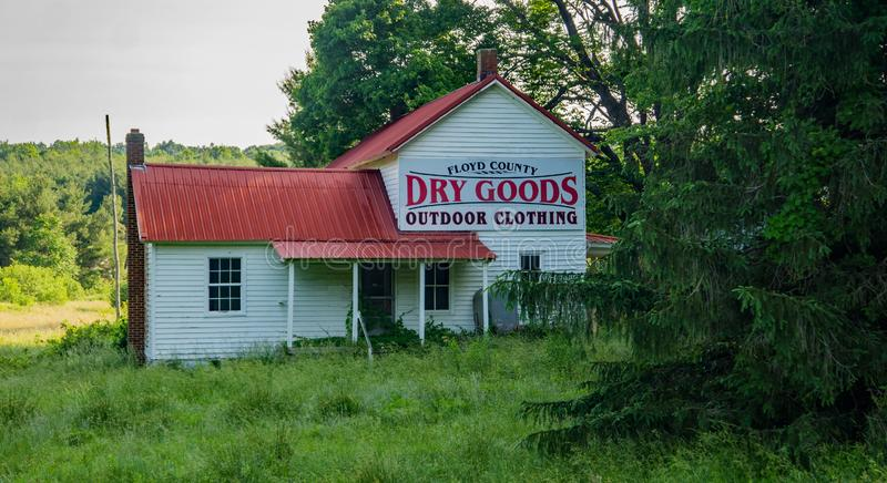 Floyd Country Dry Goods - Floyden, Virginia, USA arkivbild