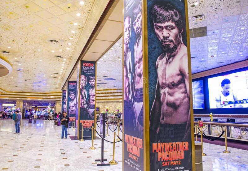 Floyd Mayweather och Manny Pacquiao kamp royaltyfria bilder