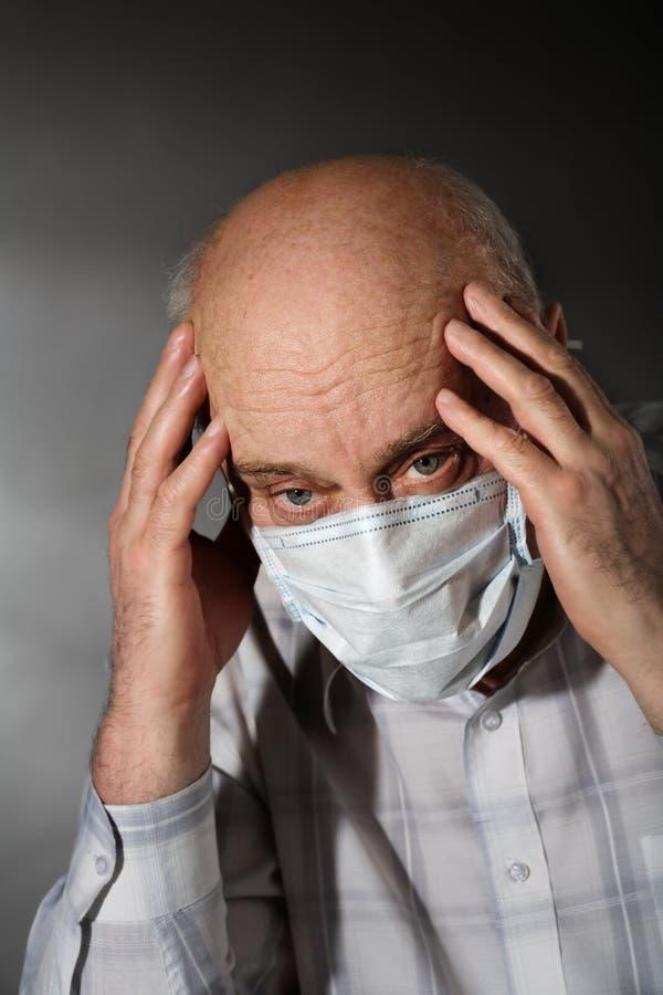 Download Flu stock image. Image of closeup, headache, bald, illness - 12218193