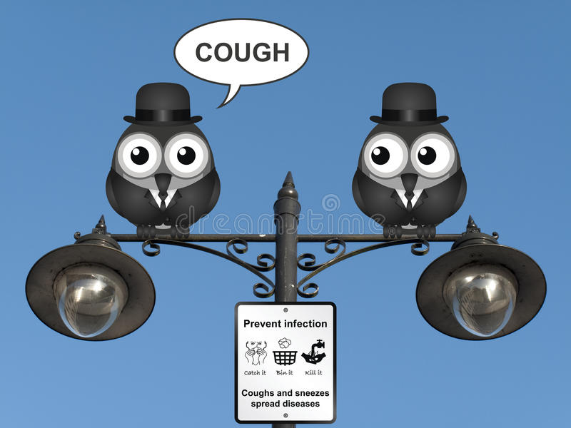 Flu and cold prevention royalty free illustration