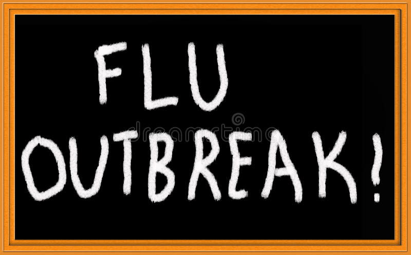 Flu outbreak stock photography
