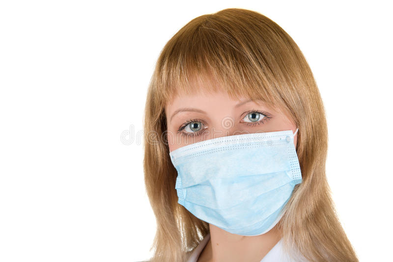 Download Flu protection stock photo. Image of blue, person, close - 12492044
