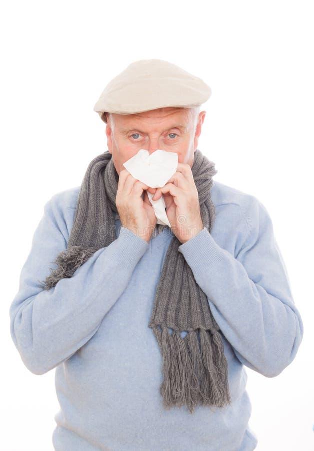 Flu Sneeze Stock Image
